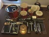 Mapex M series kit, Double Bass pedal and accessories: