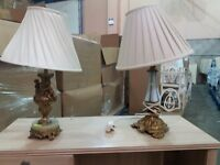 Two stylish table lamps
