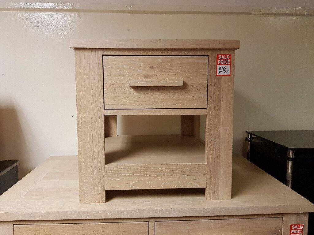 Constable 2 drawer bedside - Light oak