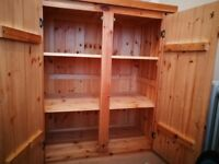 I will sale small wardrobe made of solid wood.