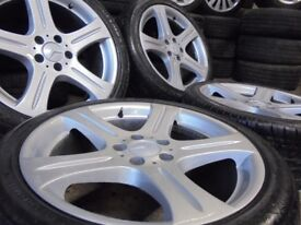 18inch mercedes benz ALLOYS WHEELS STAGERED vito S, E ,C CLASS amg 5x112