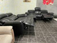 Real leather 3+2 electric recliner sofas