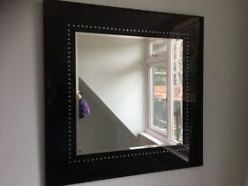 Mirror - black bejeweled frame