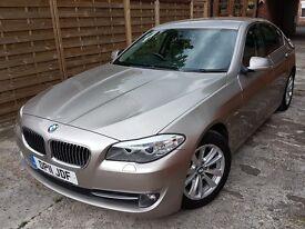 BMW. 5 Series. Silver (Titanium). Leather interior. Excellent condition
