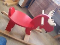 """Lovely wooden rocking """"horse"""""""