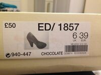 Brown suede heels size 6/39