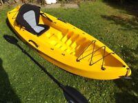Ocean Frenzy Kayak, Carlisle paddle and New Hi Back Seat