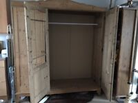 Used rustic pine wardrobe. Buyer collect only.