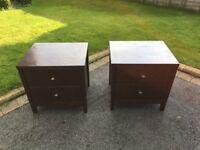 Set of 2 x Bedside Drawers 55.5cm(w) x 46cm(d) x 55cm (h)