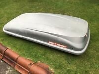 MONT BLANC LARGE ROOF BOX + FITTINGS + KEYS, VERY LARGE