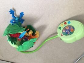 The Rainforest Peek-a-Boo Leaves Musical Mobile