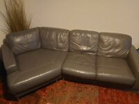 Corner sofa and foot stool