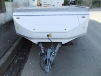 car trailer on alko chassis
