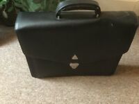 Leatherette briefcase