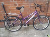 LADIES/GIRLS PURPLE FRAMED MOUNTAIN-BIKE