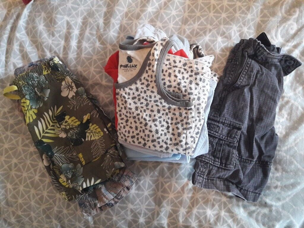 Large bundle of boys clothes age 18 months to 2 years