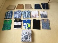 Men's shirts,trousers,hoodies.Hollister,Topman etc.SIZE SMALL