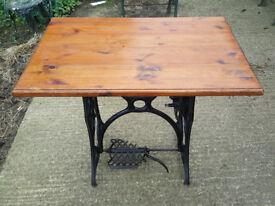 Vintage Sewing Machine Table