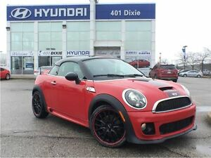 2013 MINI Coupe Cooper S|JCW PKG|6-SPEED|LEATHER|HEATED SEATS|