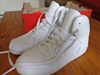 Nike White High Tops Trainers UK8 EU42.5