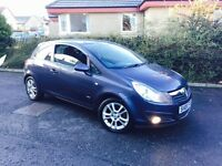 VAUXHALL CORSA 1.2 SXI 2008 LOW MILEAGE ONLY 59.000 FULL SERVICE HISTORY AND LONG MOT 2017