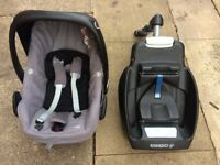 Maxi cosi pebbles car seat and maxi cosi iso fix