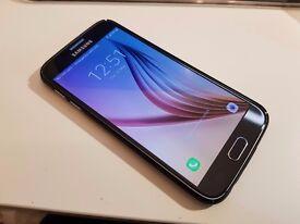 Samsung Galaxy S6 32GB Black Sapphire + Rinkge slim case (Unlocked)