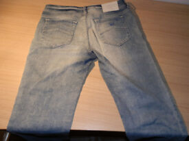 Ladies Washed Blue Denim Armani Jeans