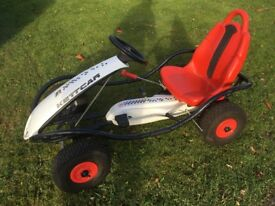 'Kettler' gocart for sale. Kettler 'kettcar' in white and red.