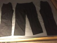 "3x Black Work Trousers With Side Pockets 40"" Waist"