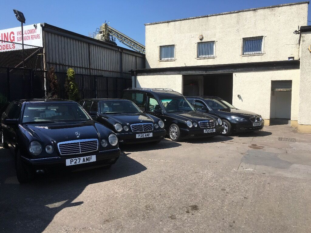 Hearse and 2 limousines for sale in east end glasgow for Used mercedes benz hearse for sale