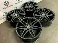 """GENUINE MERCEDES AMG 18"""" / 19"""" ALLOY WHEELS *AVAILABLE WITH TYRES* - 5 x 112 - CRYSTAL BLACK -300"""