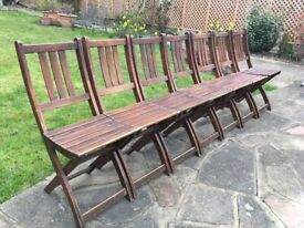 Vintage Garden Folding Chair Retro