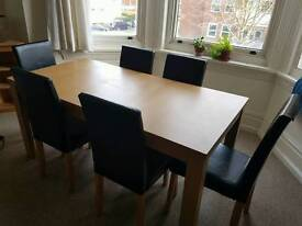 Extendable 6 seater dining table, free local delivery