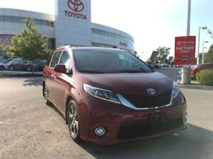 2017 Toyota Sienna SE w/ Technology Package, Low Kms, Widescreen