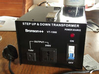 Transformer Bronson VT 1500, 240V to 110V, 1500W. Step up and down.