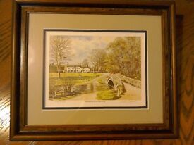 Peter Lapish Print - Linton Bridge