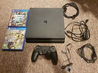 PS4 SLIM 500GB WITH FIFA 17 AND GTA 5