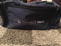 Pooleys Navy Blue Pilots Bag