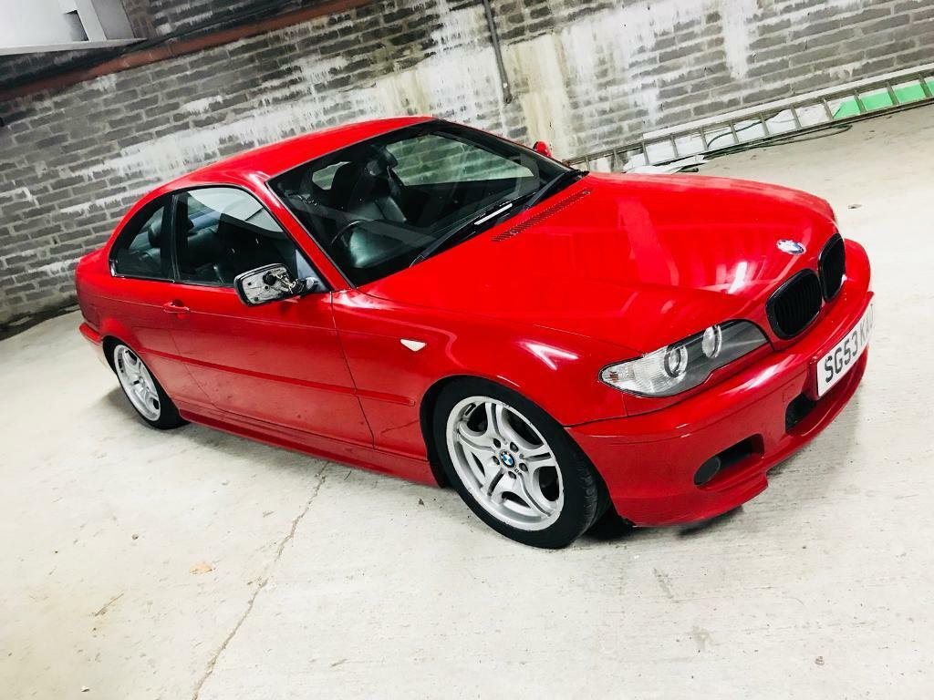 bmw 318ci m sport coupe e46 imola red black leather not. Black Bedroom Furniture Sets. Home Design Ideas