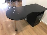 Nail station / desk. Brown/Black. Used but good condition