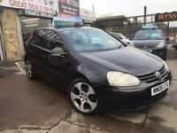 Volkswagen Golf 1.9 TDI SPORTS 5dr BLACK,GTI ALLOYS ,FULL VOSA HISTORY ,SERVICE HISTORY,12/2017 MOT