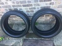 225/40/R18 part worn tyres 7/8mm tread!