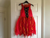 Halloween girls M&S red dress age 7-8 years