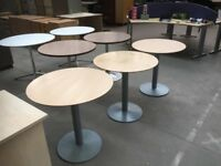 3 X CIRCULAR TABLES, OFFICE, MEETING, RESTAURANT, CAFE, BISTRO, CANTEEN, CLUB