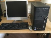 Acer aspire desktop pc - no hard drive
