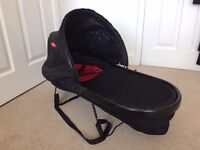 Phil and Teds Peanut Carrycot-Black/Red (To Fit: Sport/Dash/Explorer/Classic Buggys)