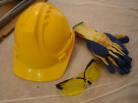PPE - helmet, glove & eye protection