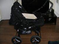Black Pram/pushchair