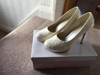 Rainbow club bridal shoes size 6